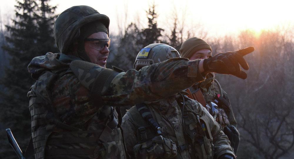 Los combatientes del batallón Azov en Shirókino