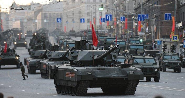 Primeras imágenes del nuevo tanque ruso Armata