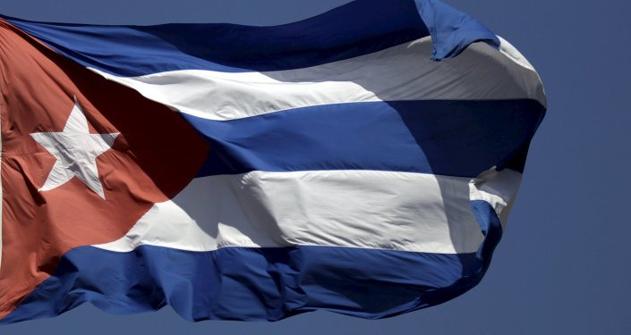 The Cuban flag flies in Havana April 14, 2015