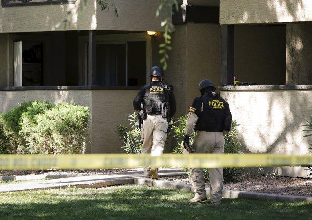 Policía cerca del lugar del tiroteo en Garland