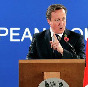 El primer ministro británico, David Cameron, en la cumbre de la UE en Bruselas, 24 de octubre 2014