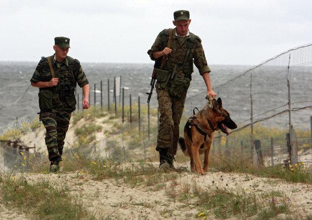 Guardias fronterizos rusos en la frontera de Rusia con Polonia (archivo)