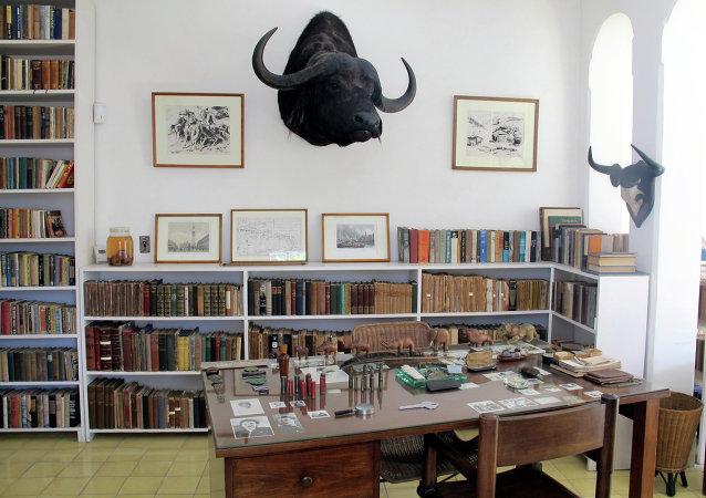 El escritorio del Hemingway en Finca Vigia