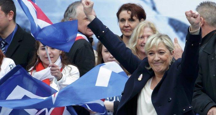 Marine Le Pen, líder del partido francés de extrema derecha Frente Nacional