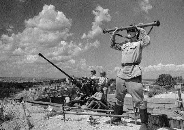 Soldados soviéticos en Sebastopol