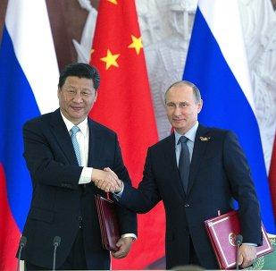 Presidente de China, Xi Jinping y presidente de Rusia, Vladímir Putin