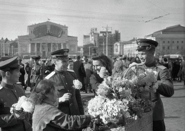 Moscú y sus habitantes el 9 de mayo de 1945