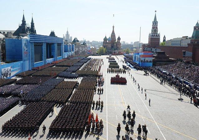 Desfile de la Victoria en la Plaza Roja de Moscú en 2015 (archivo)