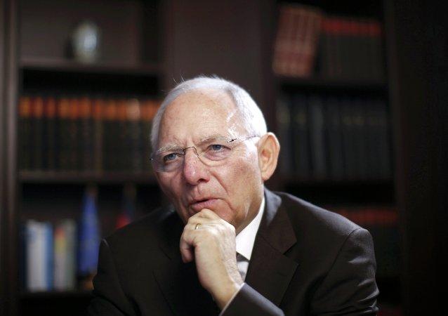 Wolfgang Schauble, ministro de Finanzas de Alemania
