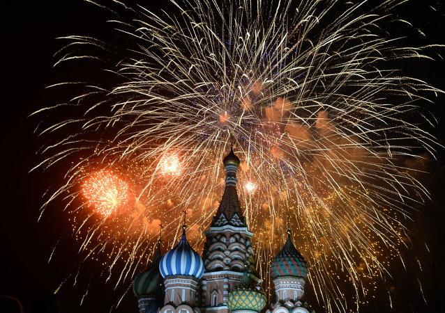 Fuegos artificiales son comunes en fiestas de fin de año