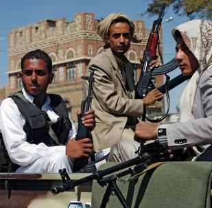 Los hutíes en la capital yemení de Saná (archivo)