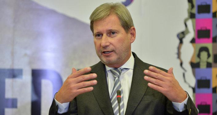 Johannes Hahn, el comisario de Política Europea de Vecindad y Negociaciones de Ampliación de la UE