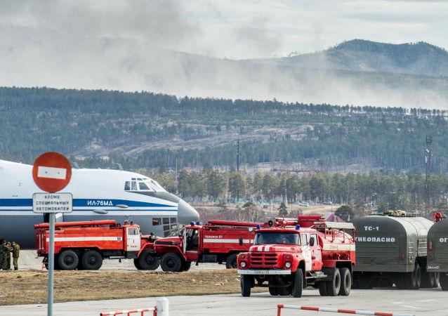 Se incrementa considerablemente la superficie de incendios forestales en Buriatia
