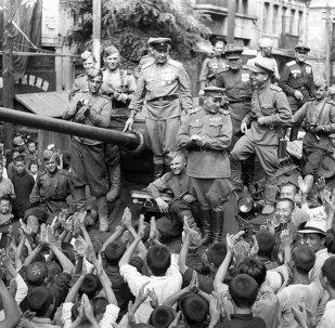 Soldados soviéticos en China