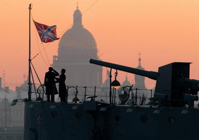 El crucero Aurora, un monumento histórico en San Petersburgo