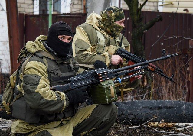 Milicias del este de Ucrania en Donetsk