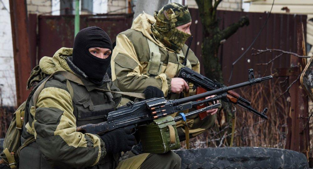 Milicias en Donetsk