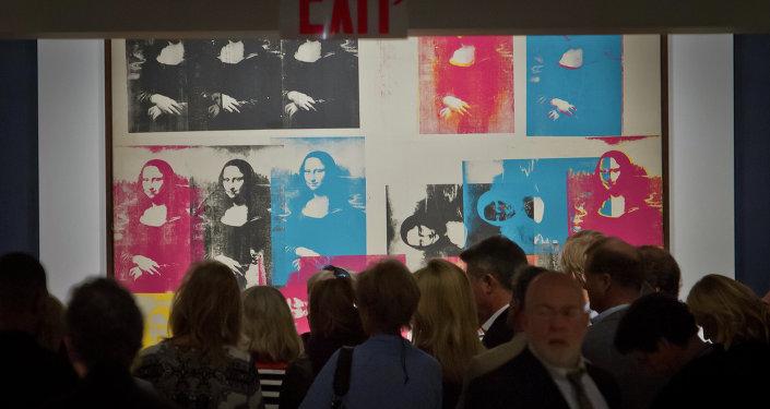 El cuadro de Andy Warhol Mona Lisa Colorada (Colored Mona Lisa)