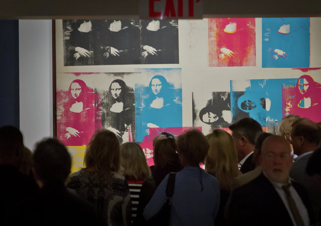 El cuadro de Andy Warhol Mona Lisa Colorada (Colored Mona Lisa)