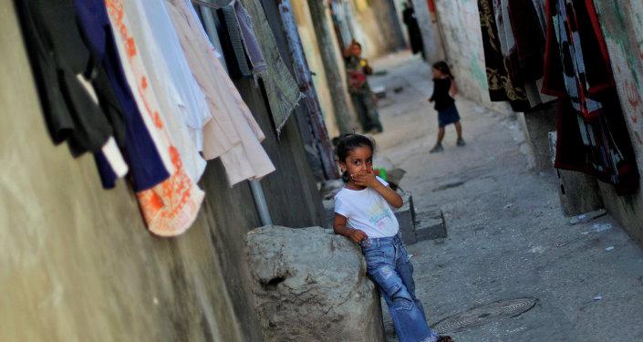 La vida en el campo de refugiados de Al-Amari en Ramala (Cisjordania)