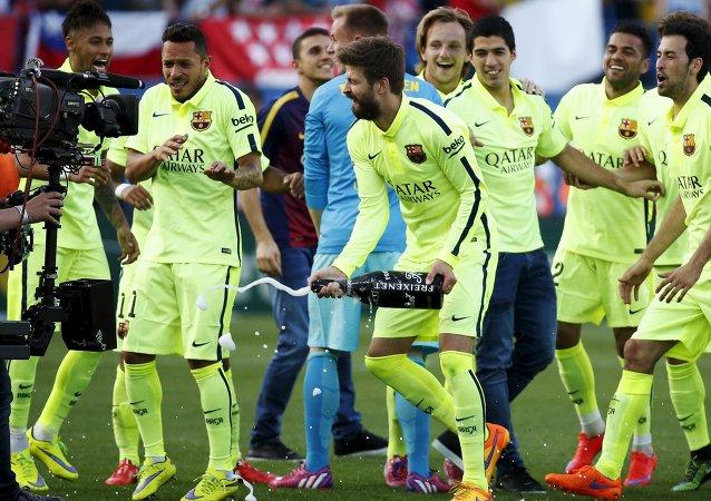 El Barça se proclama campeón de la Liga de Fútbol de España