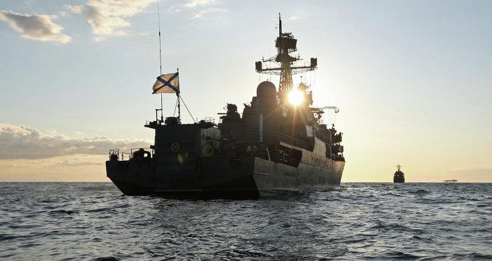 El buque de la Armada Rusa Yaroslav Mudry