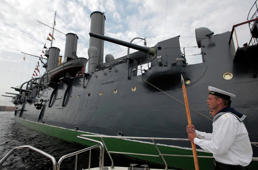 El legendario crucero 'Aurora', símbolo de la Revolución de Octubre de 1917