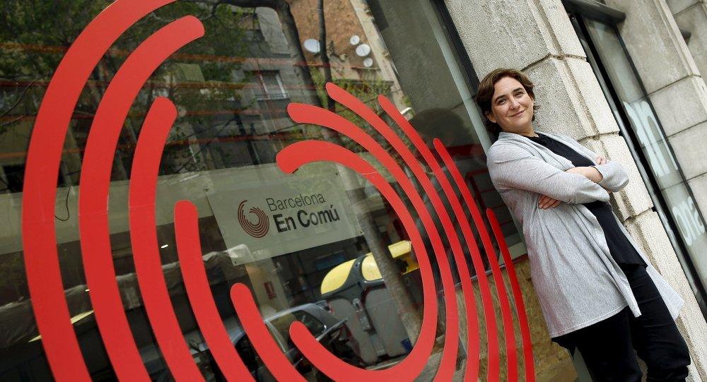 Ada Colau, líder de Barcelona en Comú (archivo)
