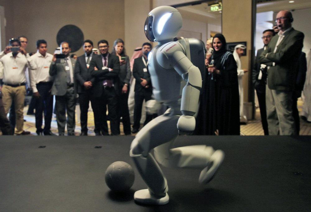 El robot antropoide Asimo, de la compañía Honda