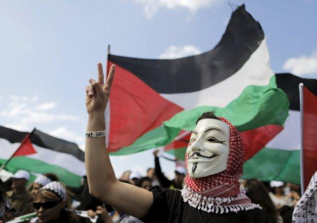 Manifestación de los árabes israelíes por el derecho de volver a sus casas dejadas tras la guerra de 1948