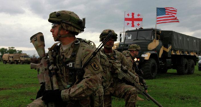 Soldados estadounidenses durante las maniobras de la OTAN en Georgia (archivo)