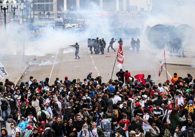 Manifestación en Paraná (Archivo)