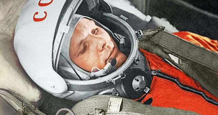 Yuri Gagarin, Gagarin, justo antes de ser el primer humano en alcanzar el cosmos, 12 de abril de 1961