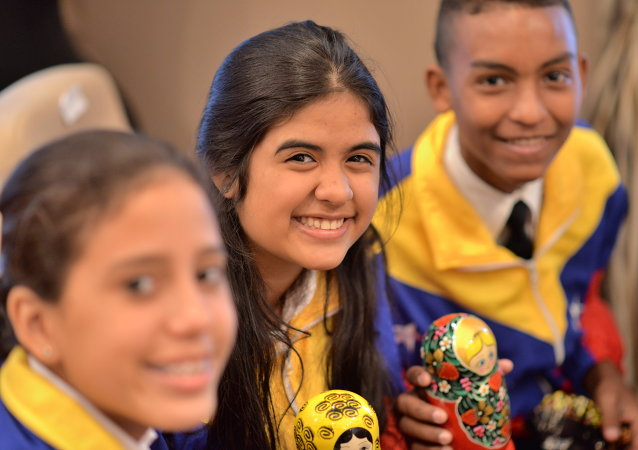 Integrantes del Orquesta Juvenil e Infantil de Venezuela