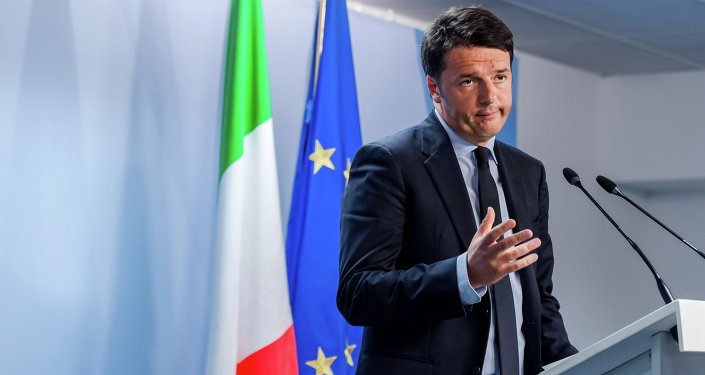 El primer ministro de Italia Matteo Renzi