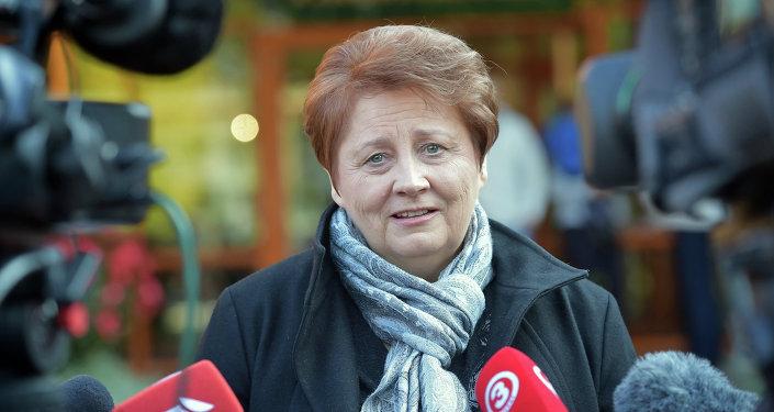 Laimdota Straujuma, primera ministra de Letonia