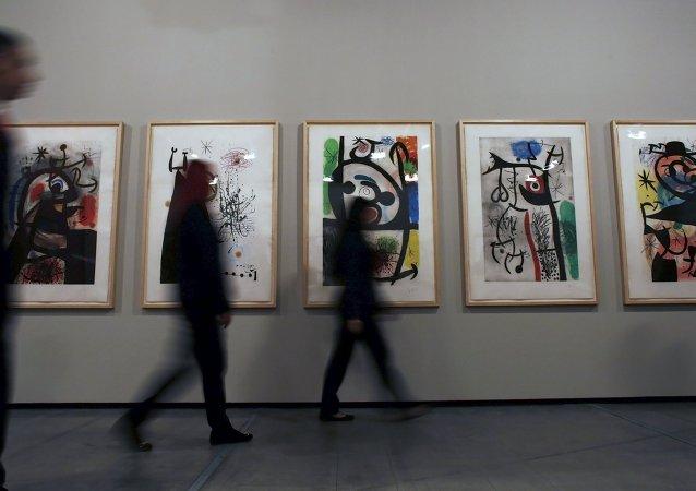 Exposición del artista español Joan Miró