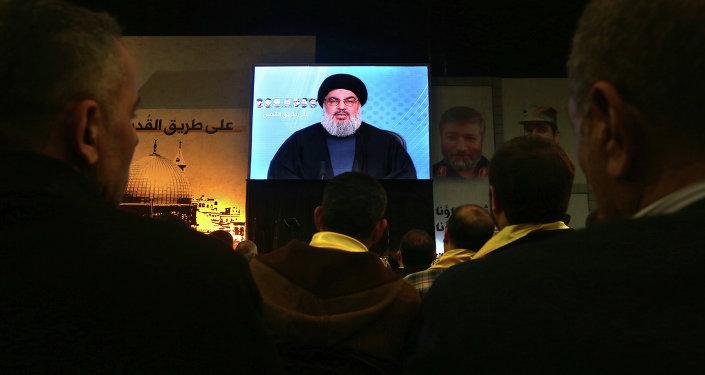 Hasan Nasrala, líder del movimiento Hizbulá (archivo)