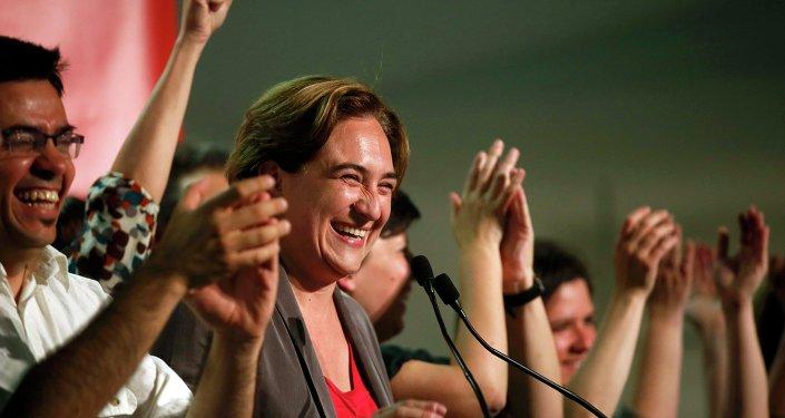 La líder de Barcelona en Común, Ada Colau