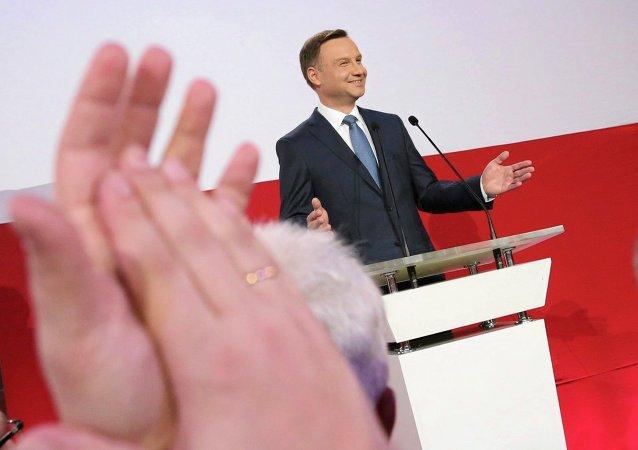 Andrzej Duda, el candidato del partido conservador polaco Ley y Justicia