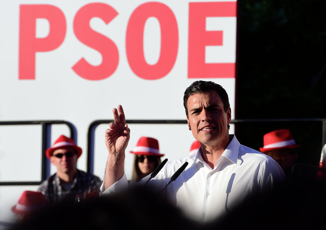 Pedro Sánchez, secretario general de los socialistas españoles