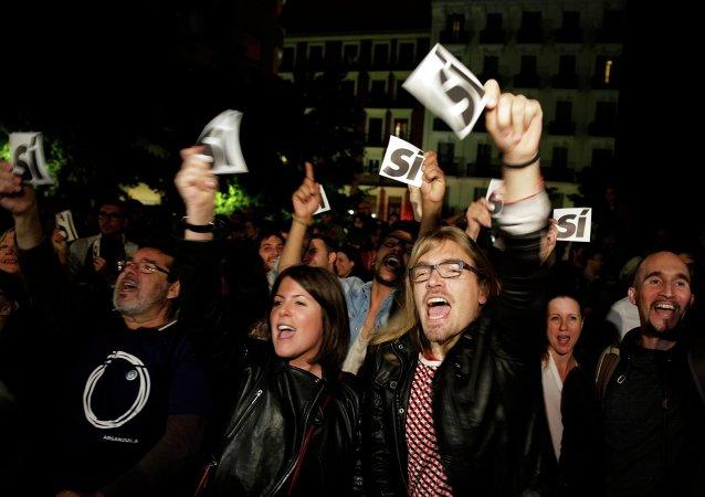Los partidarios de Podemos en Madrid