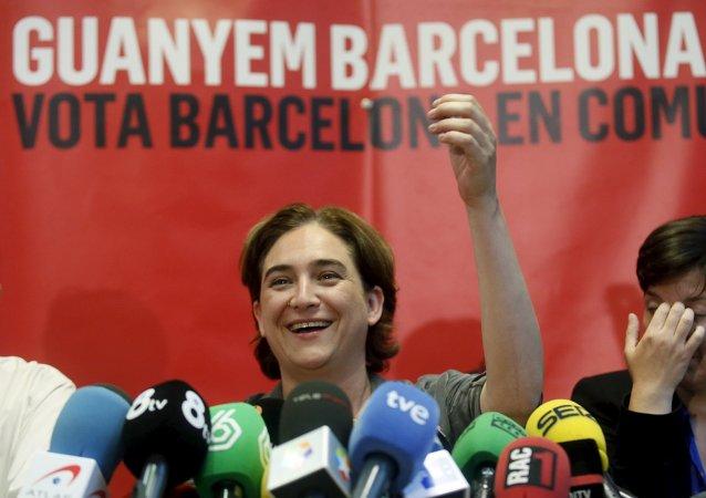 Ada Colau, líder de la plataforma Barcelona en Comú
