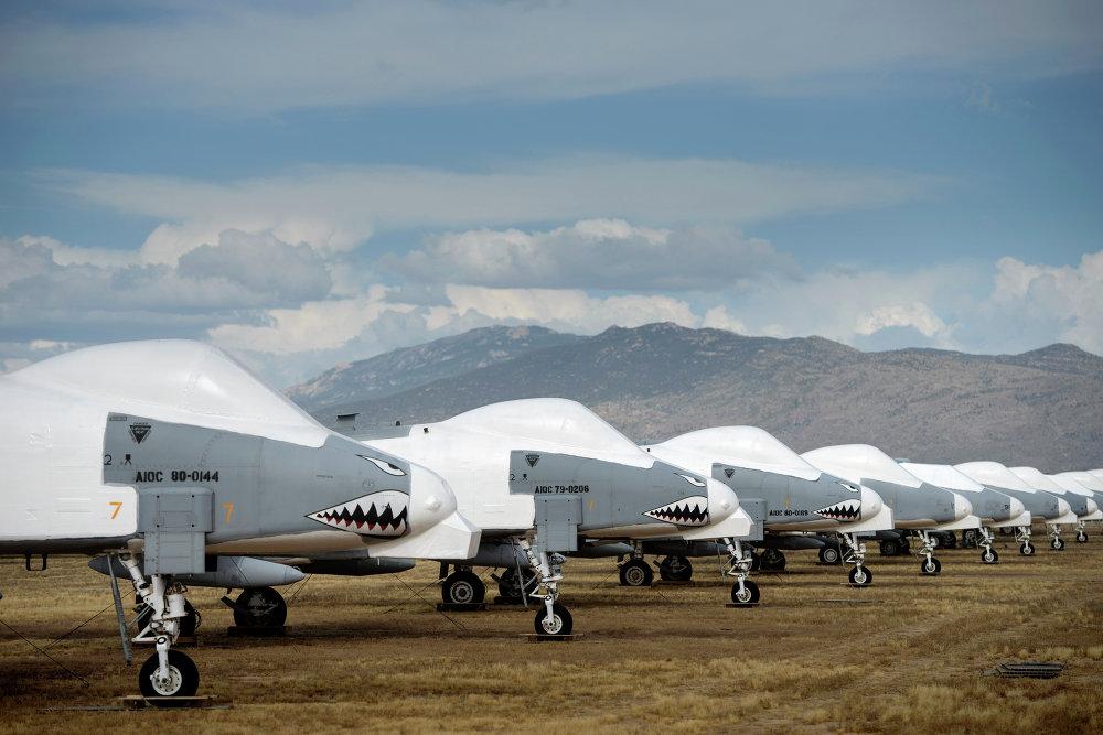 El mayor cementerio de aviones