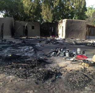 Un pueblo atacado por Boko Haram, Nigeria (archivo)