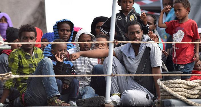 Migrantes africanos en Italia