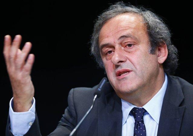 Michel Platini, presidente de la UEFA