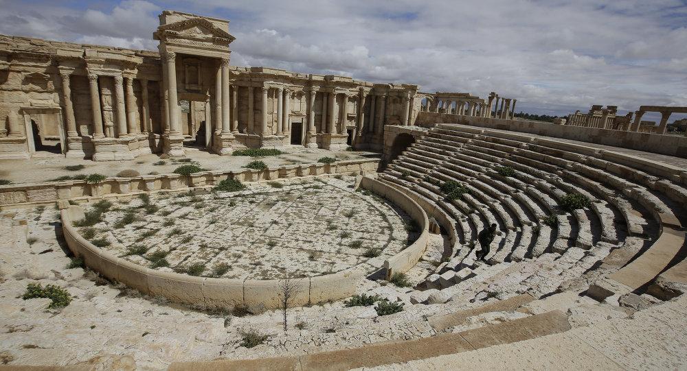 Ciudad  de Palmira antes de la conquista por EI (archivo)