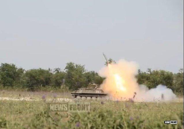 Las milicias de Lugansk prueban un sistema de desminado a distancia