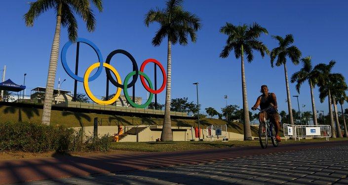 Anillos olímpicos en Río de Janeiro